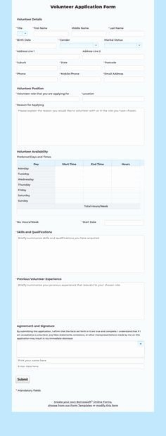 Volunteer Application form Pdf Luxury Volunteer Application Template – 15 Free Word Pdf Documents Download