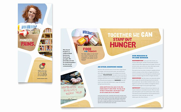 Volunteer Flyer Template Free Best Of Food Bank Volunteer Brochure Template Word & Publisher
