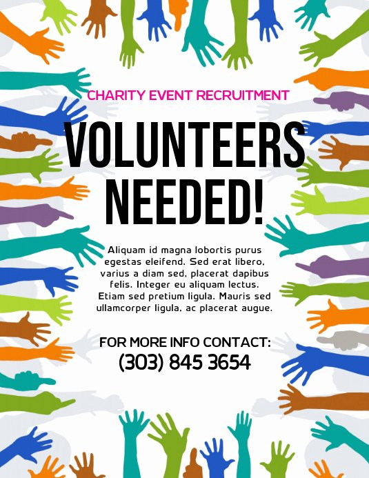Volunteer Flyer Template Free Luxury Volunteers Needed Flyer Template