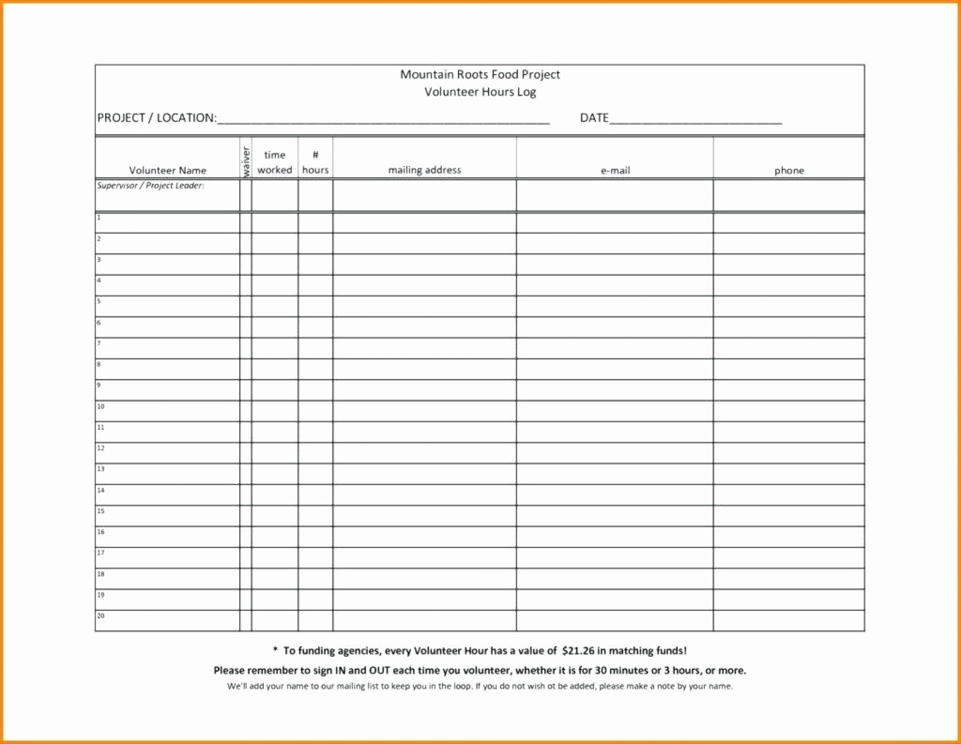 Volunteer Hours Log Template Excel Inspirational Volunteer Spreadsheet Google Spreadshee Volunteer Spreadsheet Volunteer Spreadsheet Excel
