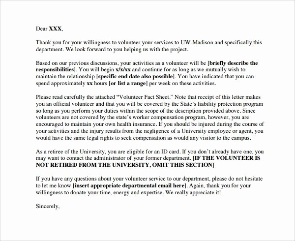 Volunteer Letter Of Appreciation Beautiful Sample Volunteer Thank You Letter 9 Download Free Documents In Pdf Word
