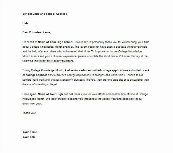 Volunteer Letter Of Appreciation Luxury Volunteer Appreciation Letter Sample