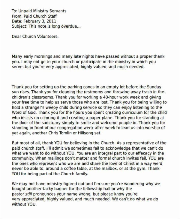 Volunteer Letter Of Appreciation Unique 44 Appreciation Letters In Pdf