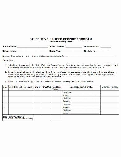 Volunteer Log Sheet Template Elegant 10 Volunteer Hours Log Templates In Doc Pdf Excel