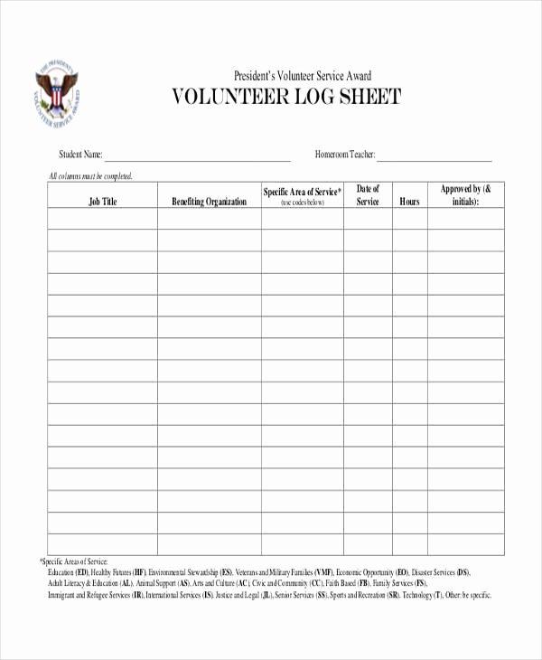 Volunteer Log Sheet Template Fresh 45 Printable Sheet Samples & Templates Pdf Doc