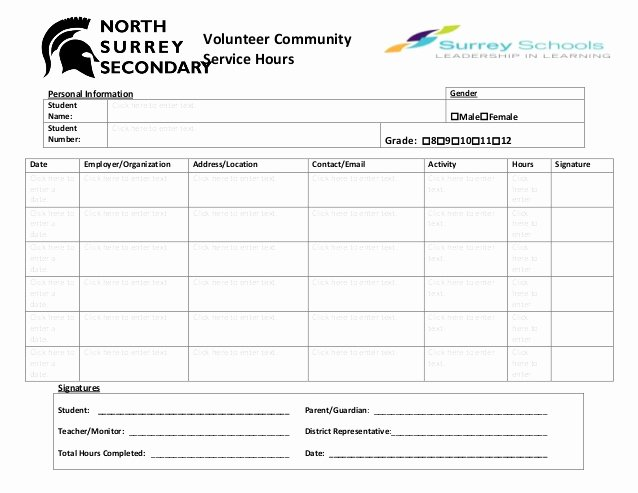 Volunteer Log Sheet Template Fresh Volunteer Munity Hours Log Sheet