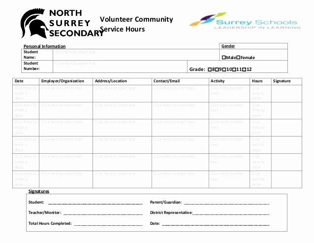 Volunteer Log Sheet Template Fresh Volunteer Munity Hours Log Sheet