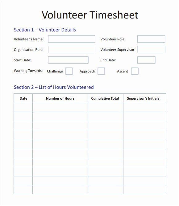 Volunteer Log Sheet Template Inspirational Free 12 Sample Volunteer Timesheet Templates In Google Docs Google Sheets Ms Excel