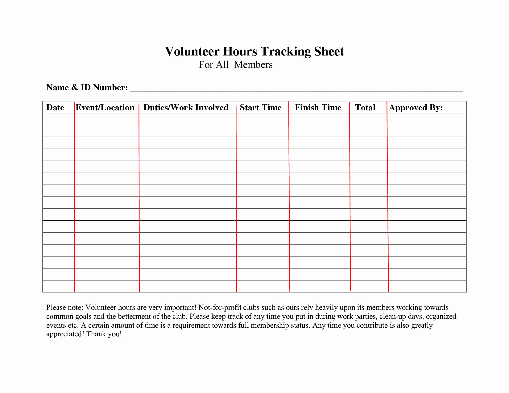 Volunteer Log Sheet Template Luxury Volunteer Hours Log Sheet Template What Pinterest