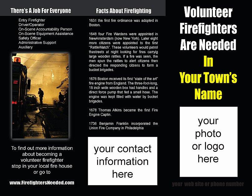 Volunteer Recruitment Plan Template Lovely 11 Best S Of Fire Department Flyer Templates Fire Safety Flyer Template Fire Safety