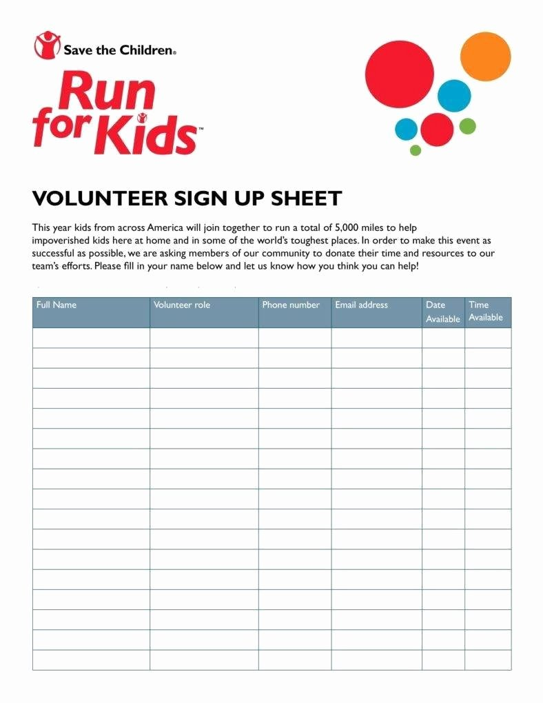 Volunteer Sign In Sheet Awesome 10 Volunteer Sign Up Sheet Templates Pdf