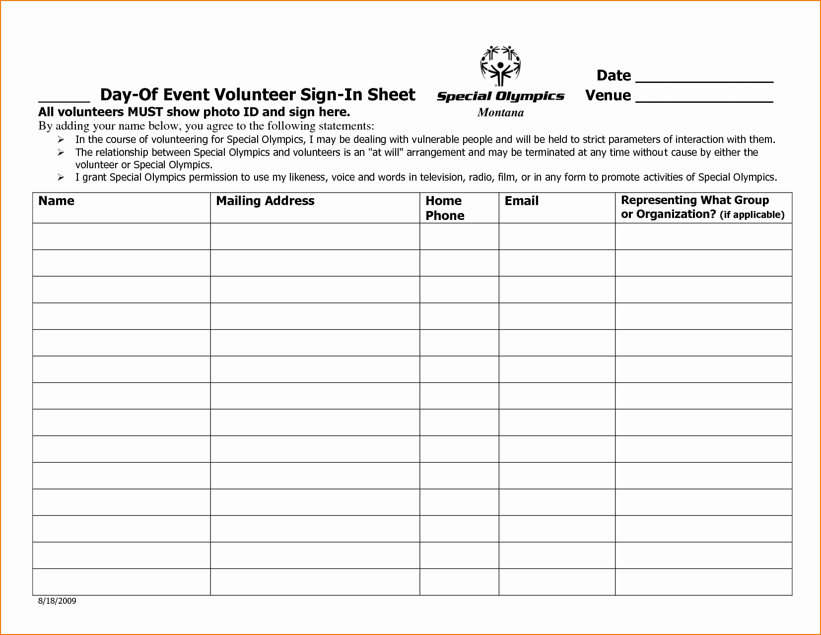 Volunteer Sign In Sheet Beautiful 5 Sample Sign In Sheet