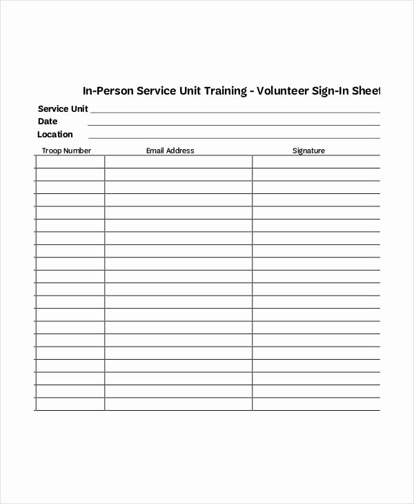 Volunteer Sign In Sheet Beautiful Volunteer Sign In Sheet Templates 14 Free Pdf Documents Download