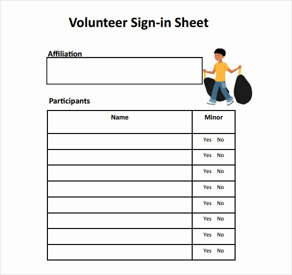 Volunteer Sign In Sheet Best Of Free 32 Sample Sign In Sheet Templates In Pdf Word