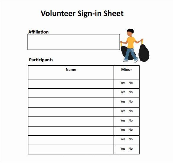 Volunteer Sign In Sheet Best Of Free 32 Sample Sign In Sheet Templates In Pdf Word