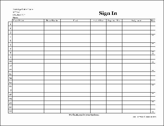 Volunteer Sign In Sheet Unique Free Easy Copy Detailed Pany Volunteer Sign In Sheet Wide From formville