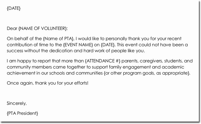Volunteer Thank You Letter Awesome 14 Volunteer Thank You Letter Templates Samples & formats