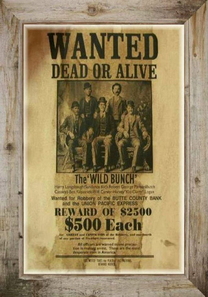 Wanted Posters Old West Awesome Magnet Vintage Old West Wanted Dead or Alive Poster Wild Bunch Free Shipping