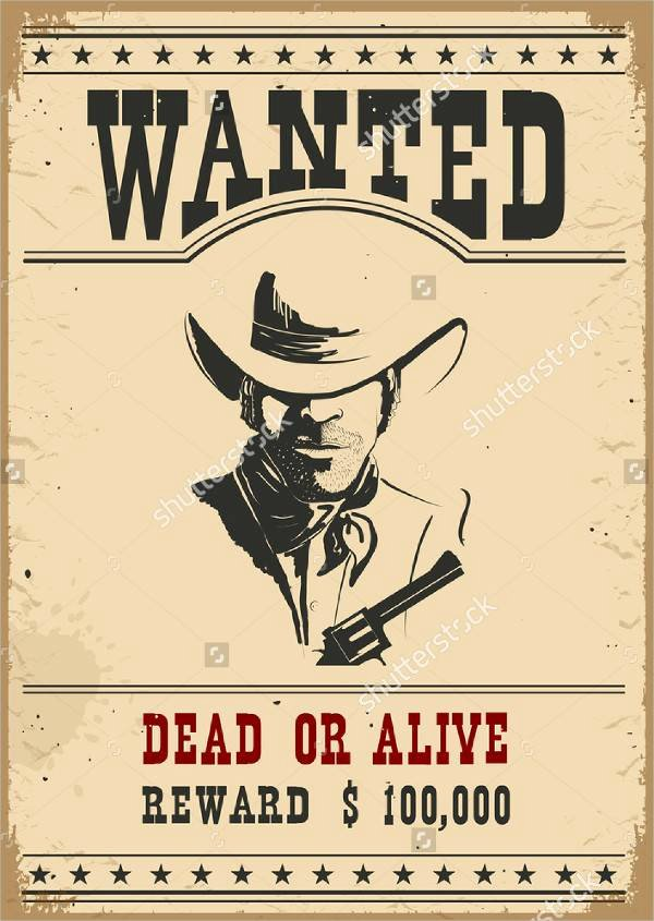 Wanted Posters Old West Beautiful Wanted Poster Design
