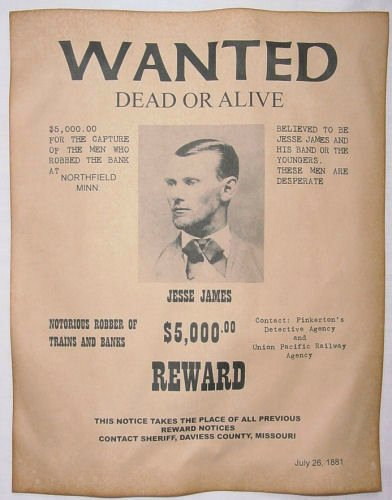 Wanted Posters Old West Best Of Jesse James Wanted Poster Western Outlaw Old West