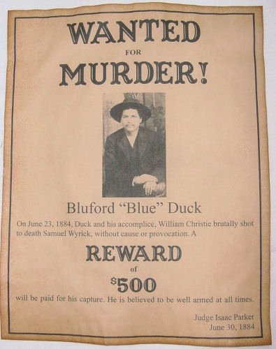 Wanted Posters Old West Inspirational Bluford Blue Duck Wanted Poster Western Outlaw Old West