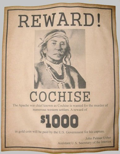 Wanted Posters Old West Inspirational Cochise Wanted Poster Western Old West Indian Apache