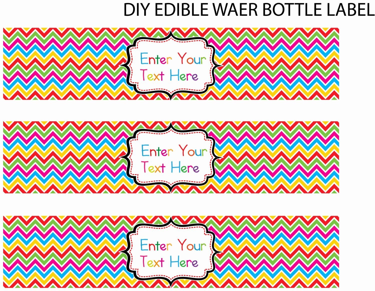 Water Bottle Label Template Luxury Unavailable Listing On Etsy