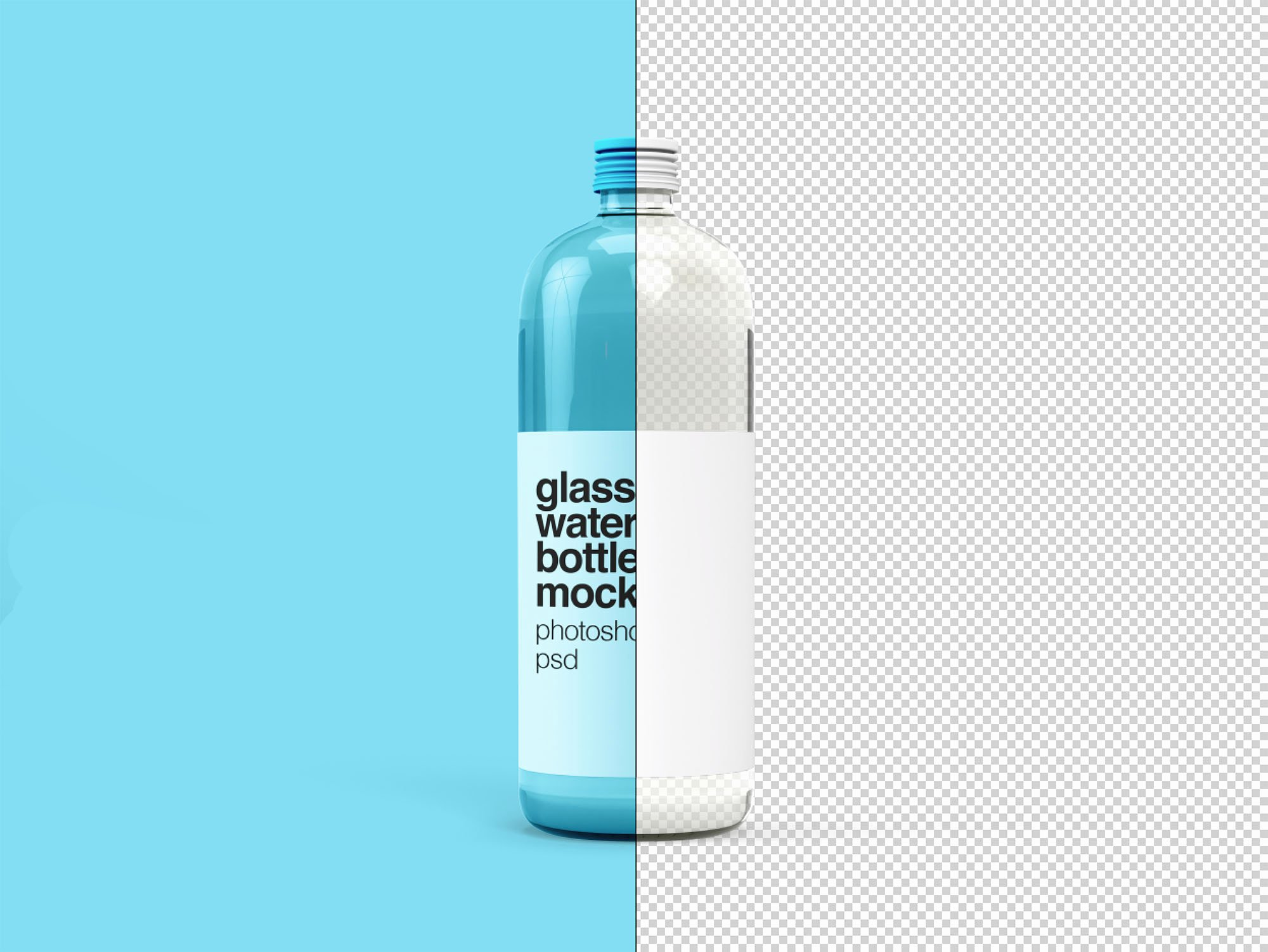 Water Bottle Mock Up Elegant Glass Water Bottle Mockup