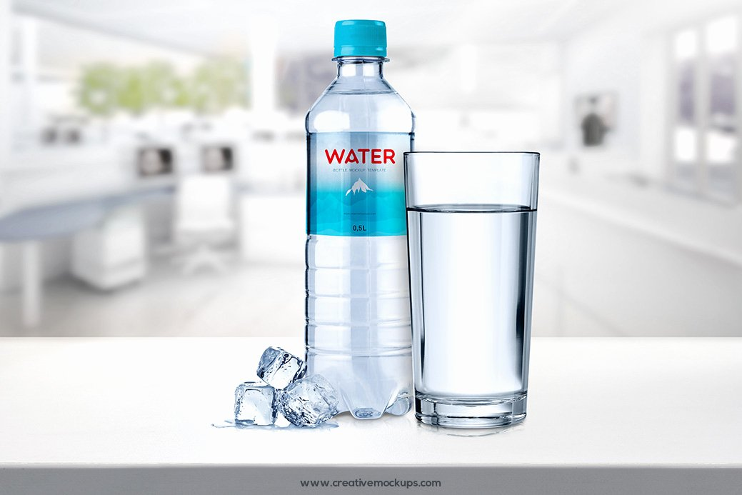 Water Bottle Mock Up Elegant Water Bottle Mockup