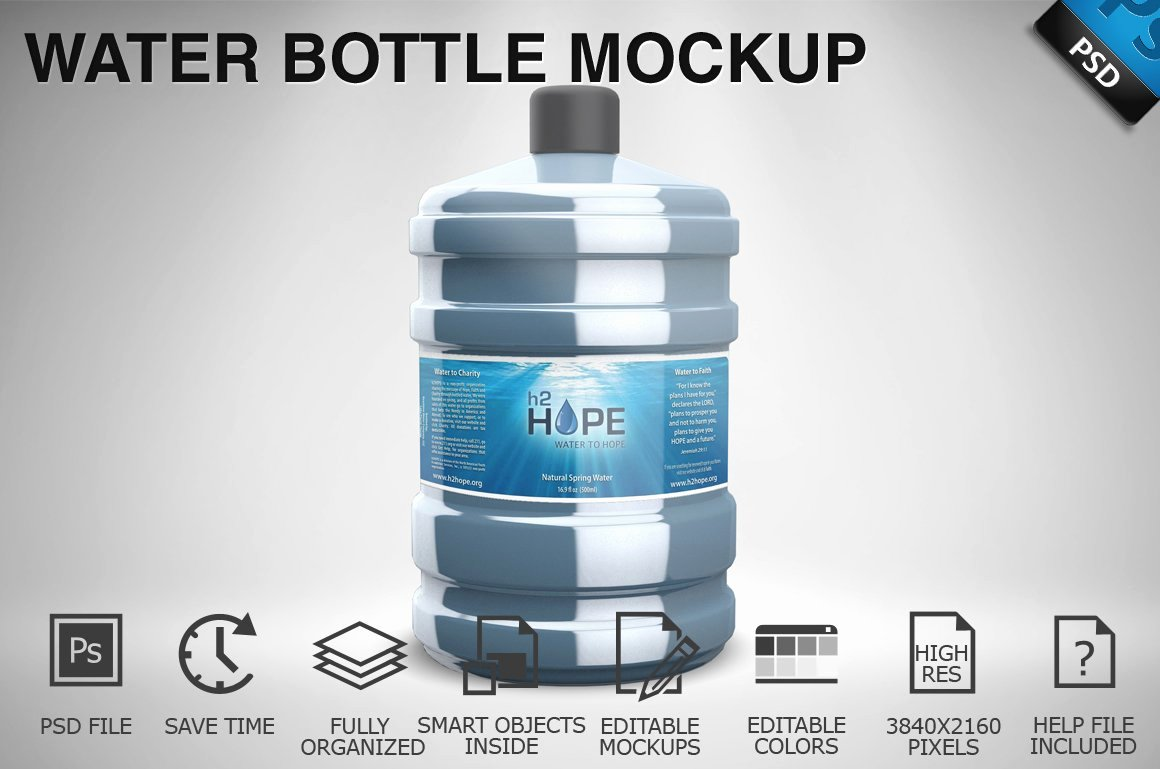 Water Bottle Mock Up Lovely Water Bottle Mockup 01 Product Mockups Creative Market
