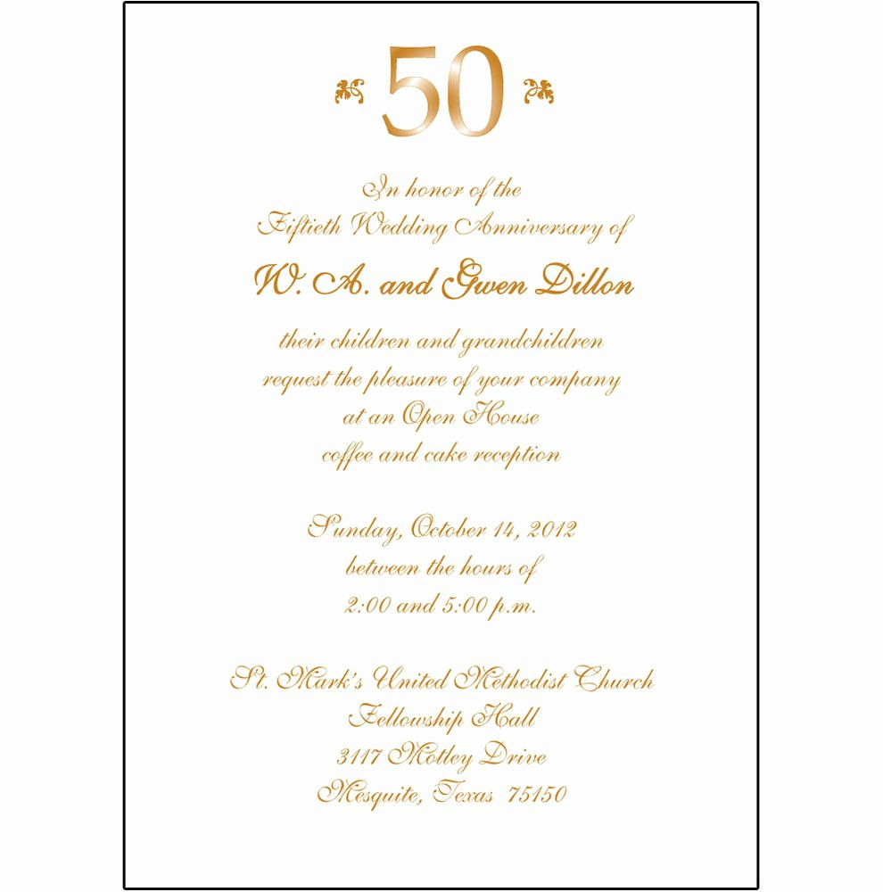 Wedding Anniversary Invitation Template Elegant 25 Personalized 50th Wedding Anniversary Party Invitations Ap 007