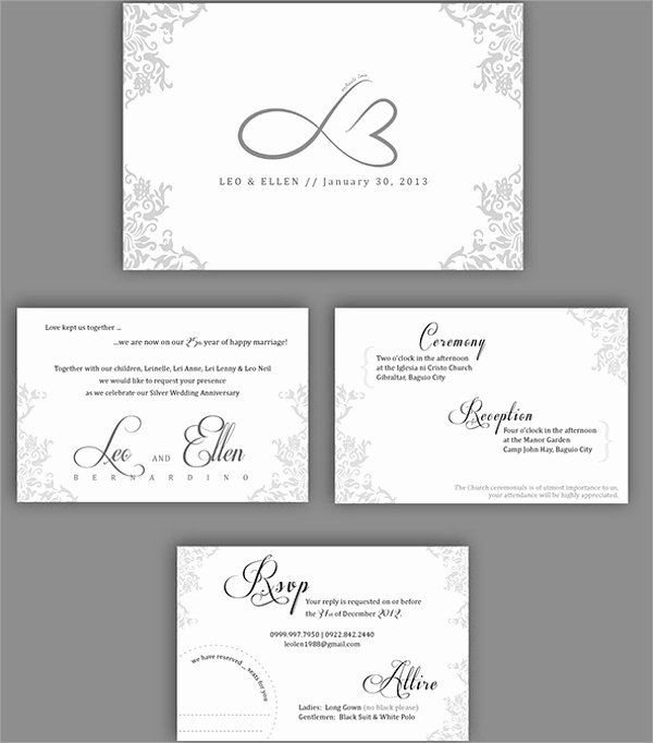 Wedding Anniversary Invitation Template Lovely Free 16 Sample Amazing Anniversary Invitation Templates In Illustrator Ms Word
