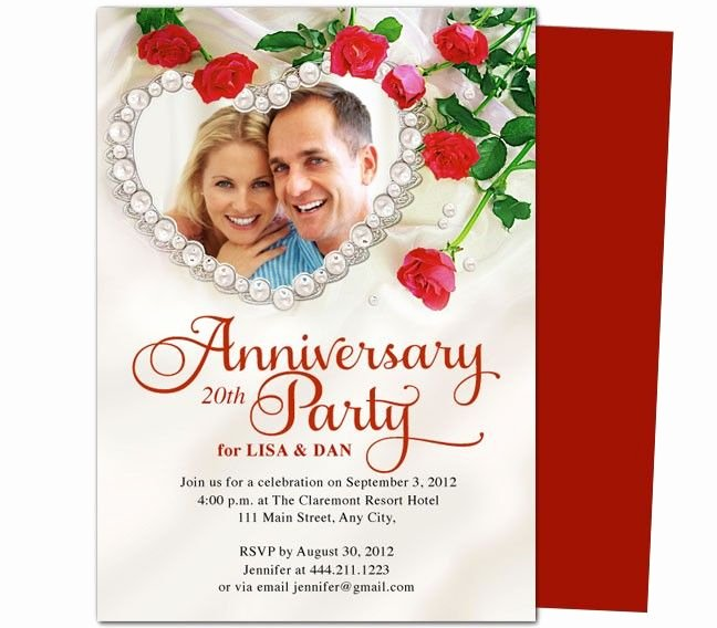 Wedding Anniversary Invitation Templates Beautiful 9 Best Images About 25th & 50th Wedding Anniversary