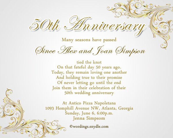 Wedding Anniversary Invitation Templates Elegant 50th Anniversary Invitations Templates