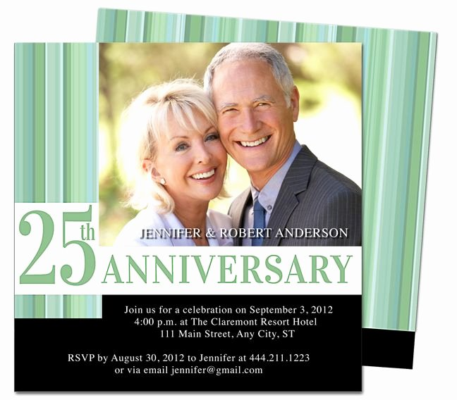 Wedding Anniversary Invitation Templates Lovely Wedding Anniverary Invitations Templates Happiness 25th