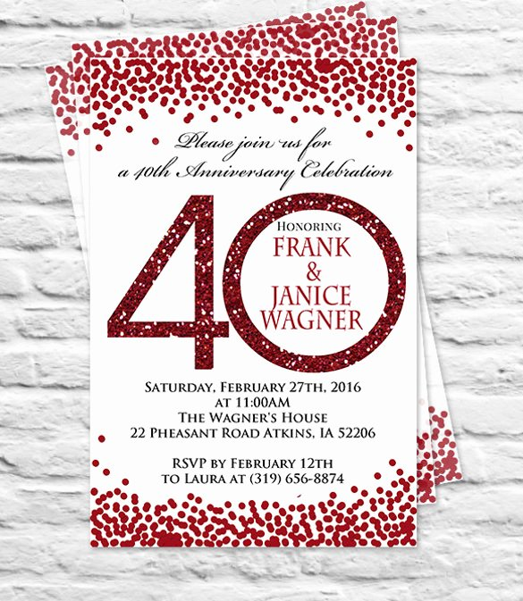 Wedding Anniversary Invitation Templates Luxury 32 Anniversary Invitation Templates Psd Vector Eps Ai