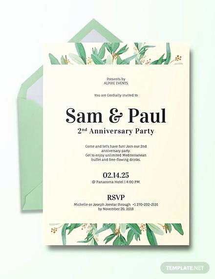 Wedding Anniversary Invite Template Fresh Free 16 Sample Amazing Anniversary Invitation Templates In Illustrator Ms Word