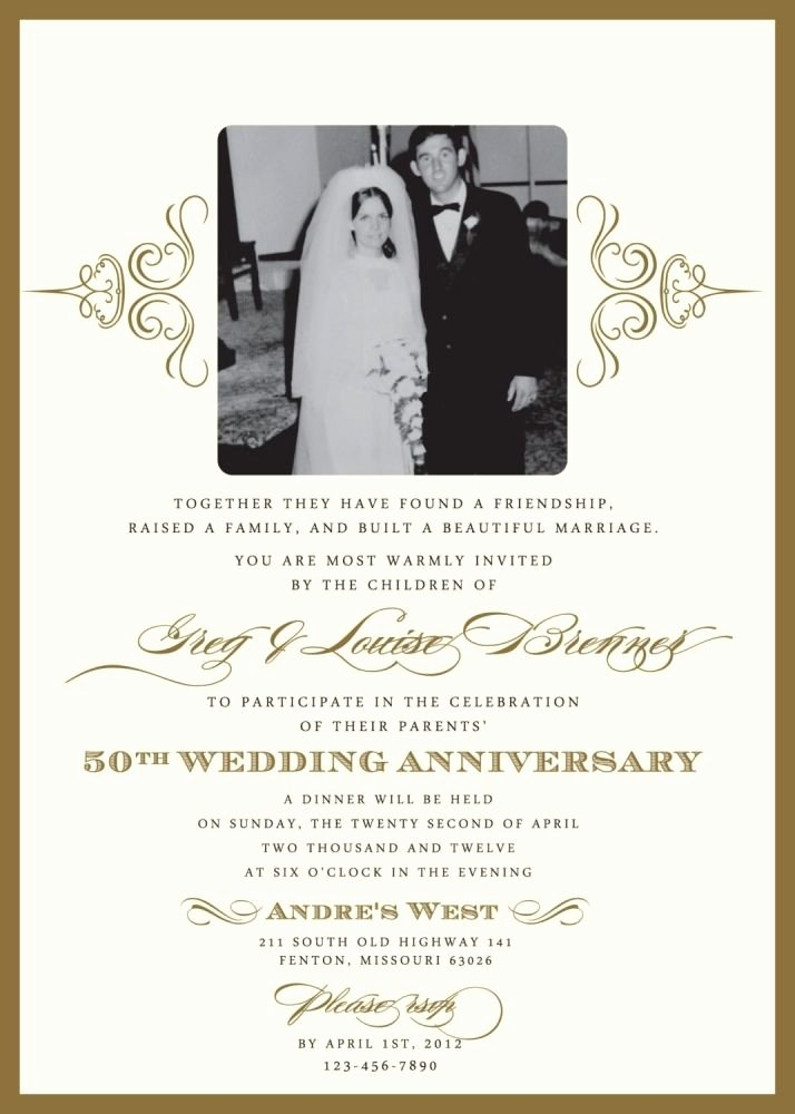 Wedding Anniversary Invite Template Inspirational Wedding Invitations for A 50th Wedding Anniversary