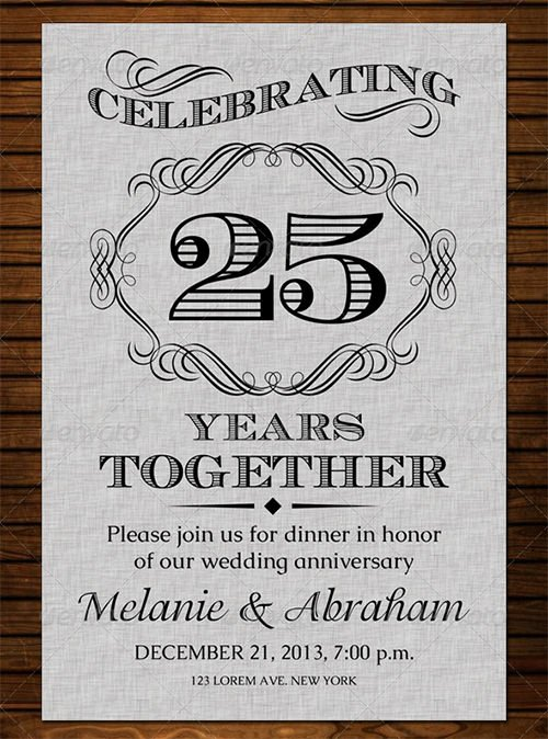 Wedding Anniversary Invite Template Luxury 22 Anniversary Invitation Templates Psd Ai Word