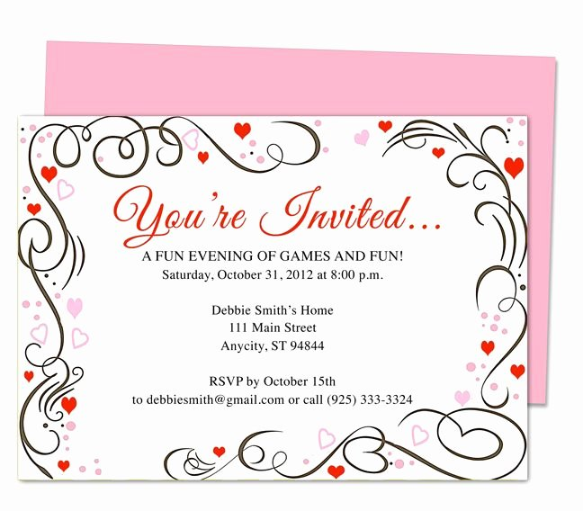 Wedding Anniversary Invite Template Unique 17 Best Images About 25th & 50th Wedding Anniversary Invitations Templates On Pinterest
