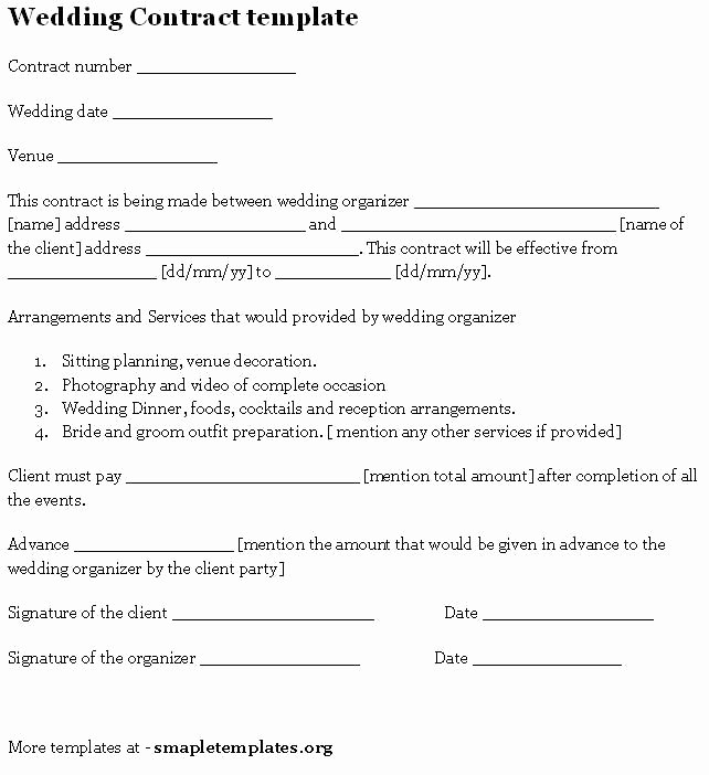 Wedding Band Contract Template Inspirational New Employee Checklist Template