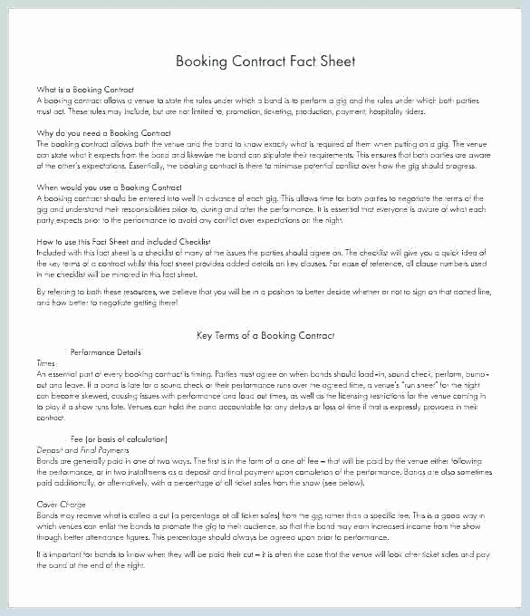 Wedding Band Contract Template Luxury Wedding Musician Contract Template