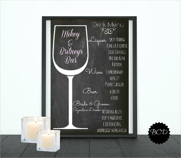 Wedding Bar Menu Template Best Of 28 Drink Menu Templates – Free Sample Example format