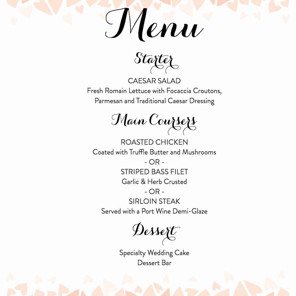 Wedding Bar Menu Template Fresh Download A Free Wedding Menu Template