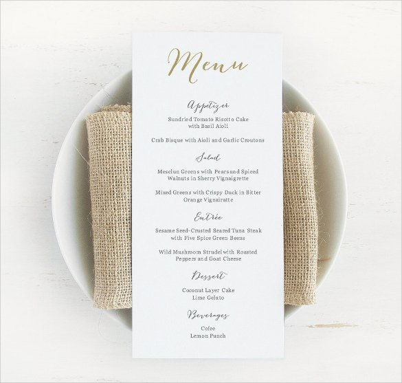 Wedding Bar Menu Template Lovely Free 30 Wedding Menu Templates In Pdf Psd