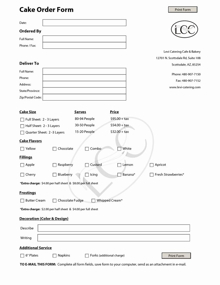 Wedding Cake order form New 23 Best Images About Cake order forms On Pinterest