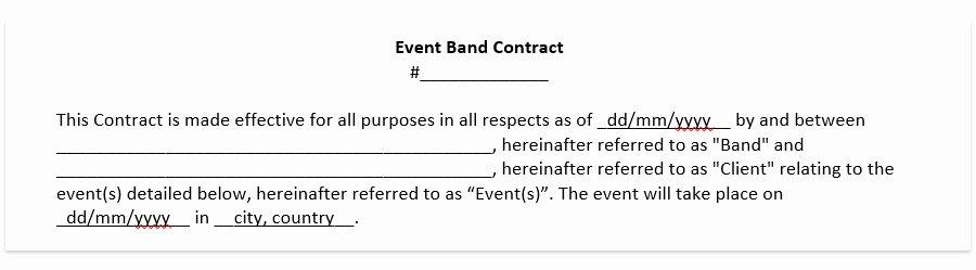 Wedding Dj Contract Pdf Awesome Wedding Band Contract Template Wedding Dj Contract Free Pdf