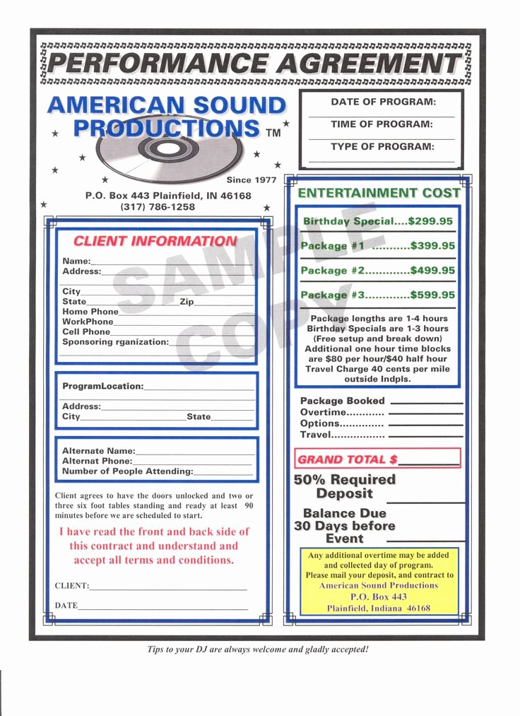 Wedding Dj Contract Pdf Best Of Dj Contract Template Non Pete Agreement D J Contracts Real State Pinterest