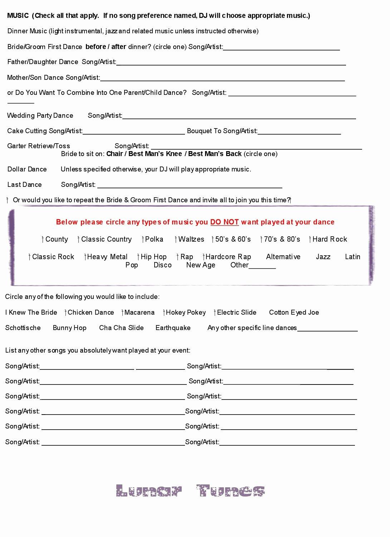 Wedding Dj Contract Pdf Fresh Wedding Dj Contract Free Printable Documents