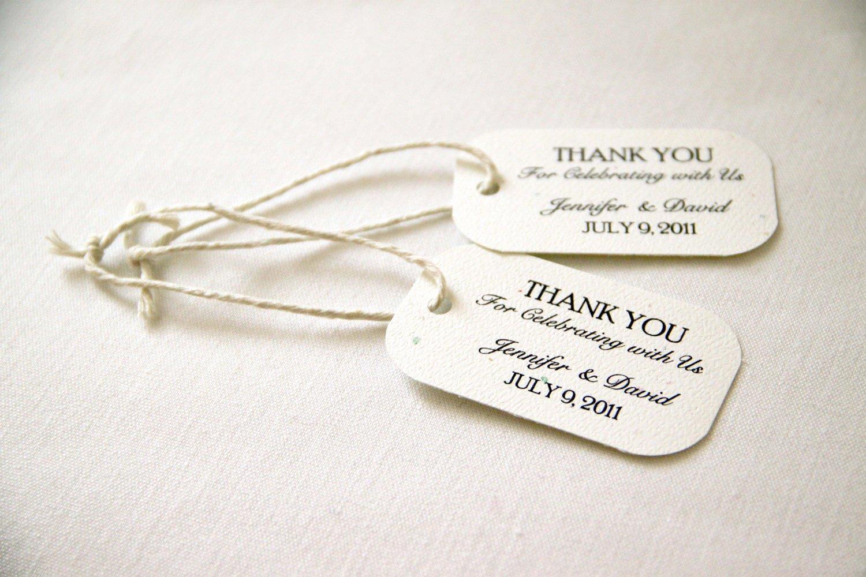 Wedding Favor Thank You Tag Beautiful 150 Mini Wedding Favor Gift Tags Classic Thank You